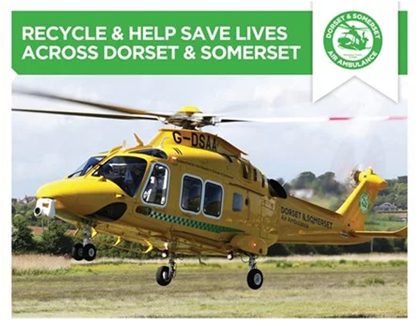 Recycling unwanted IT raises funds for Dorset & Somerset Air Ambulance